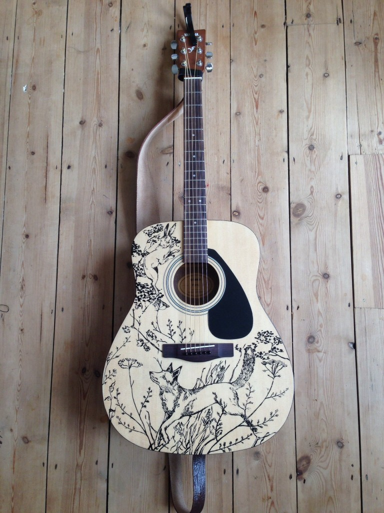 Fox and hare customised guitar