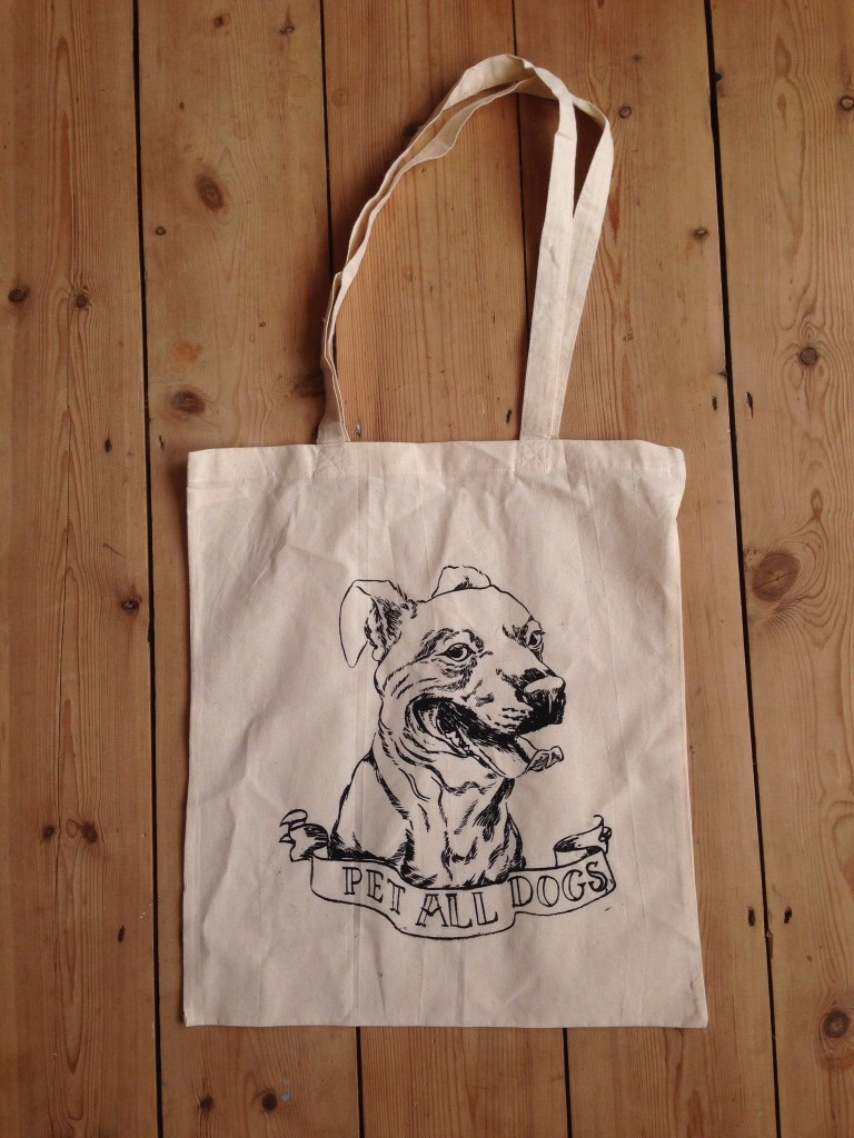 Pet all dogs tote